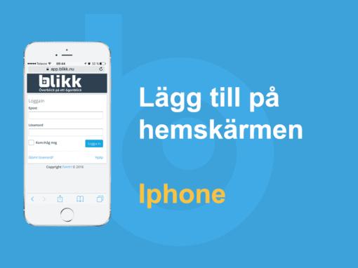 Lägg till på hemskärmen – Iphone