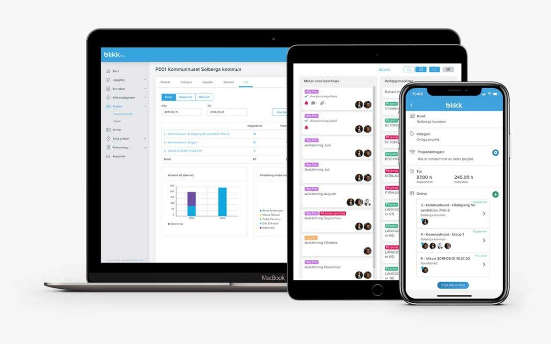 Jobba ännu smartare i Blikk – nu lanserar vi Blikk Pro med affärsmöjligheter, offertverktyg, projekt, uppgifter och startsida