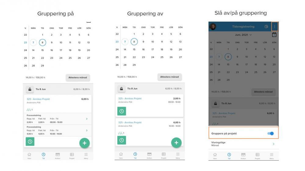mobilapp tidrapportering